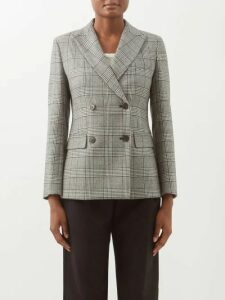Chloé - Split Neck Silk-blend Sweater - Womens - Navy