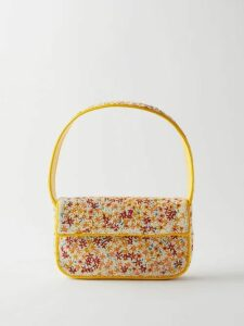 Edeltrud Hofmann - Nico Polka Dot Printed Silk Blouse - Womens - Navy Multi