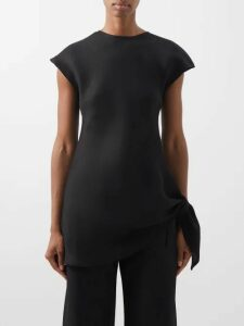 Dolce & Gabbana - Lace Up Midi Dress - Womens - Black