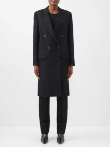 Balenciaga - Double Square Block Heel Leather Boots - Womens - Black
