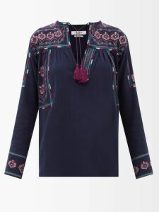 Raf Simons - Photographic Print Sleeveless Silk Blend Top - Womens - Pink Multi