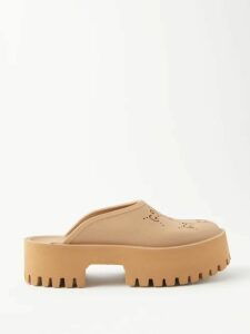Loewe - Handkerchief Hem Striped Linen Blend Midi Dress - Womens - White Navy