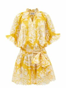 Rianna + Nina - Fioyri Graphic Print High Rise Wide Leg Trousers - Womens - Black Green