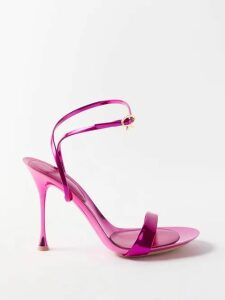 Albus Lumen - Safari Belted Cotton Shirt - Womens - Red