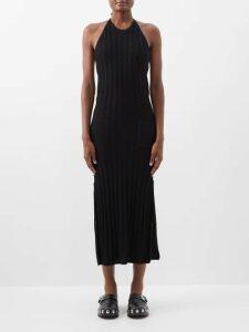 Giambattista Valli - Tie Neck Gathered Chiffon Gown - Womens - Fuchsia