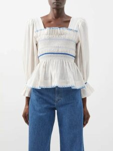 Raey - V Neck Fine Knit Cashmere Sweater - Womens - Orange