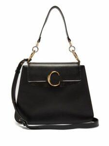 Chloé - Medium The C Leather Shoulder Bag - Womens - Black