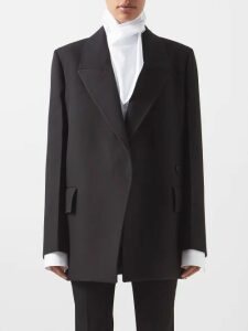 Burberry - Monogram-print Silk Shirt - Womens - Blue Print