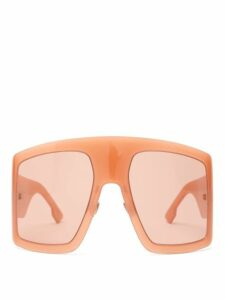 Dior Eyewear - Diorsolight1 Oversized Acetate Sunglasses - Womens - Pink