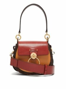 Chloé - Tess Small Lizard Effect Leather Cross Body Bag - Womens - Dark Brown