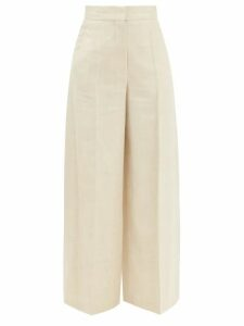 Adriana Degreas - Aglio Print Tiered Silk Dress - Womens - White Print