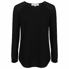 French Connection Classic Polly Long Sleeve T-Shirt, Black