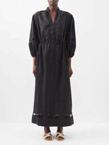 Saloni - Bella Patchwork-print Seersucker Midi Dress - Womens - Multi