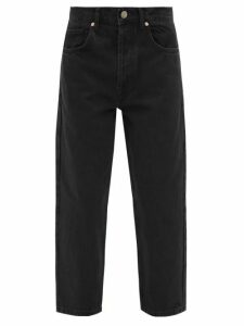 No. 21 - Tie Neck Zebra Print Crepe Midi Dress - Womens - Black Yellow