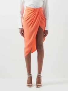 Mary Katrantzou - Astere Stripe-jacquard Satin Gown - Womens - Multi Stripe