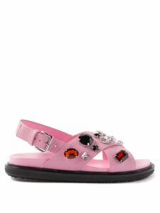Fendi - High Rise Pleated Satin Midi Skirt - Womens - Red