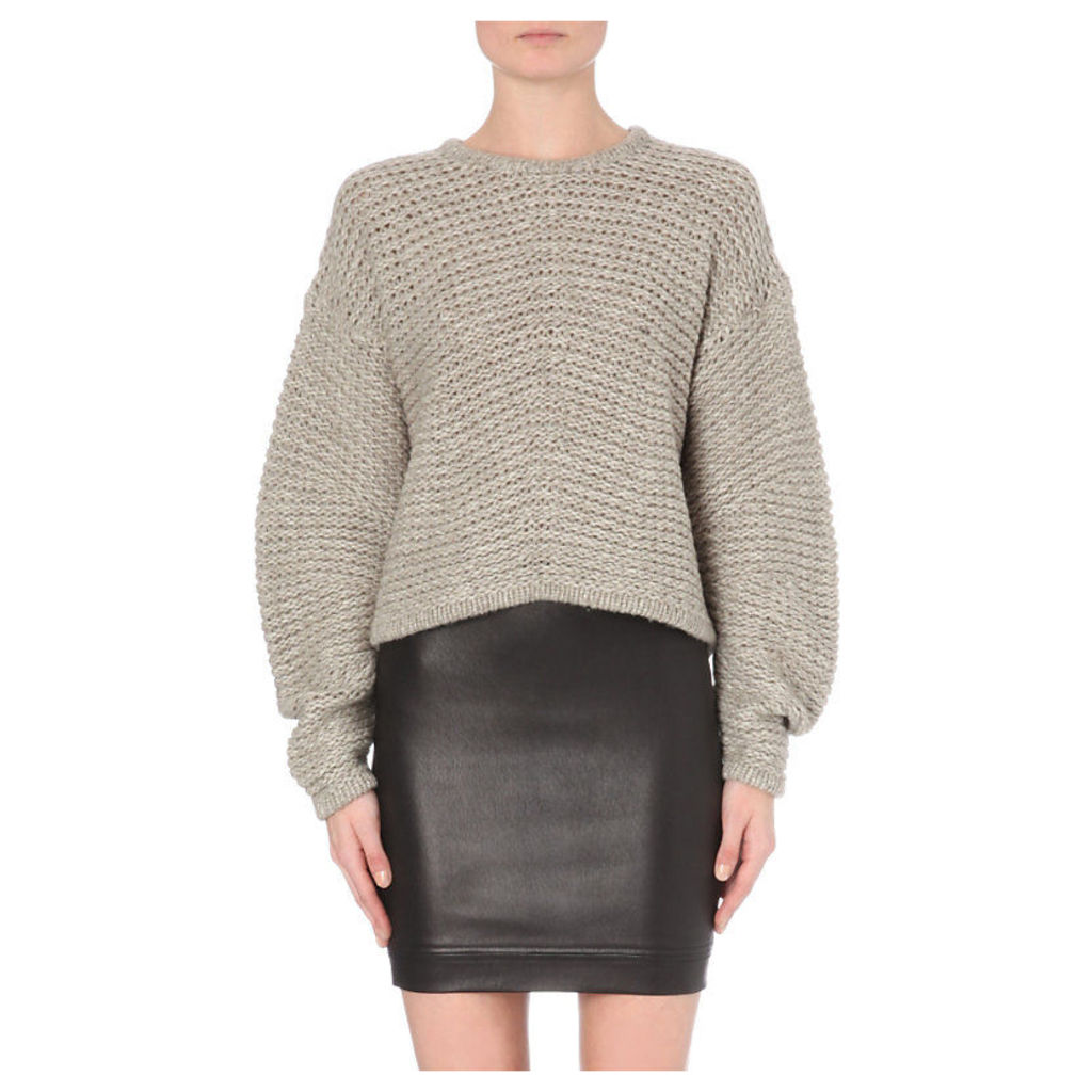 Helmut Lang Oversized Chunky Knit Wool-Blend Jumper - for Women