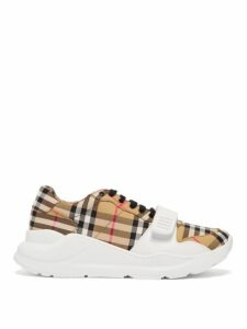 Burberry - Regis Vintage Check Canvas Trainers - Womens - Tan Multi
