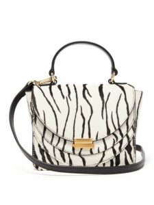 Wandler - Luna Mini Zebra Print Calf Hair Cross Body Bag - Womens - Black White