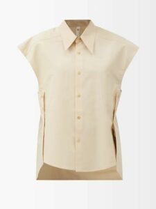 Alexander Mcqueen - Pussy-bow Silk Crepe De Chine Blouse - Womens - Light Blue