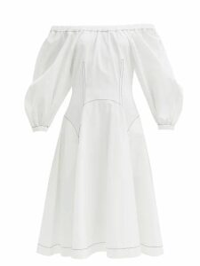Valentino - Tiered Ruffled Cotton Blouse - Womens - Black
