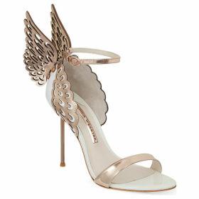 Sophia Webster Evangeline winged heeled sandals, Women's, Size: EUR 40 / 7 UK WOMEN, White