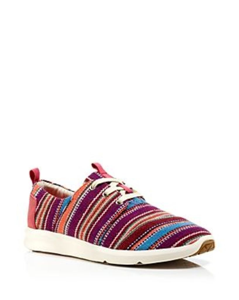 Toms Flat Lace Up Sneakers - Del Ray Tribal