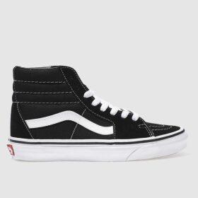 Vans Black & White Sk8-hi Suede Trainers