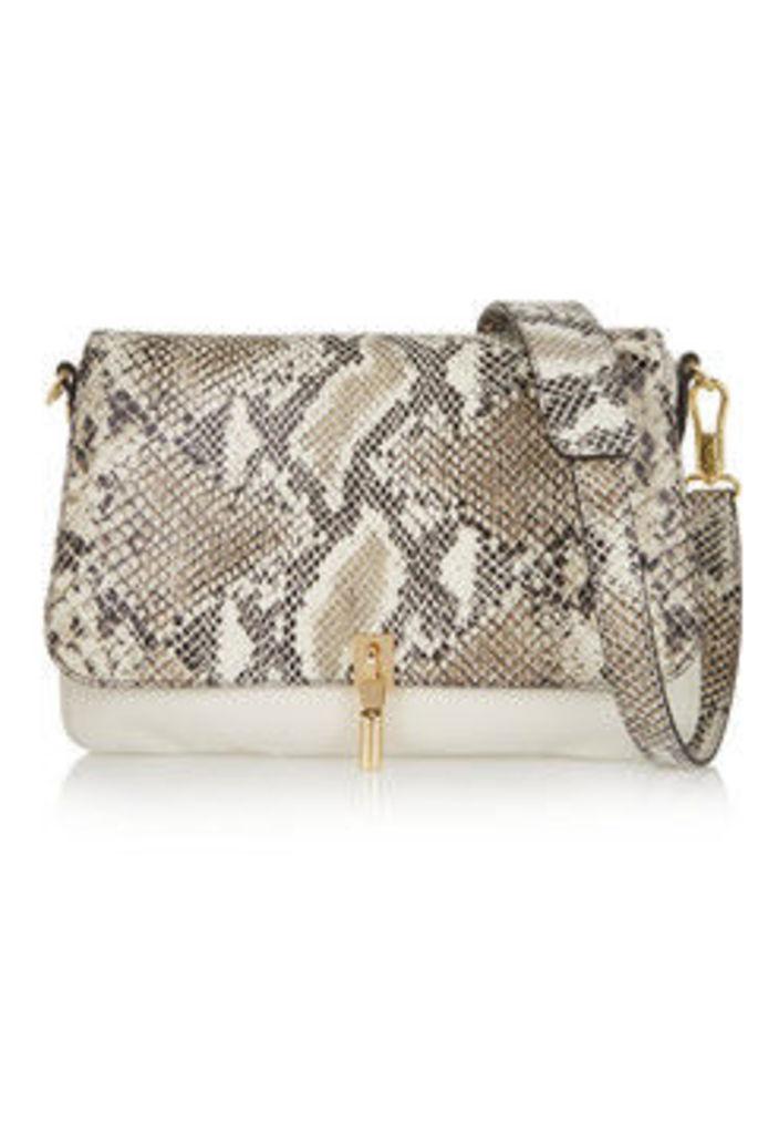 Cynnie mini snake-effect leather shoulder bag