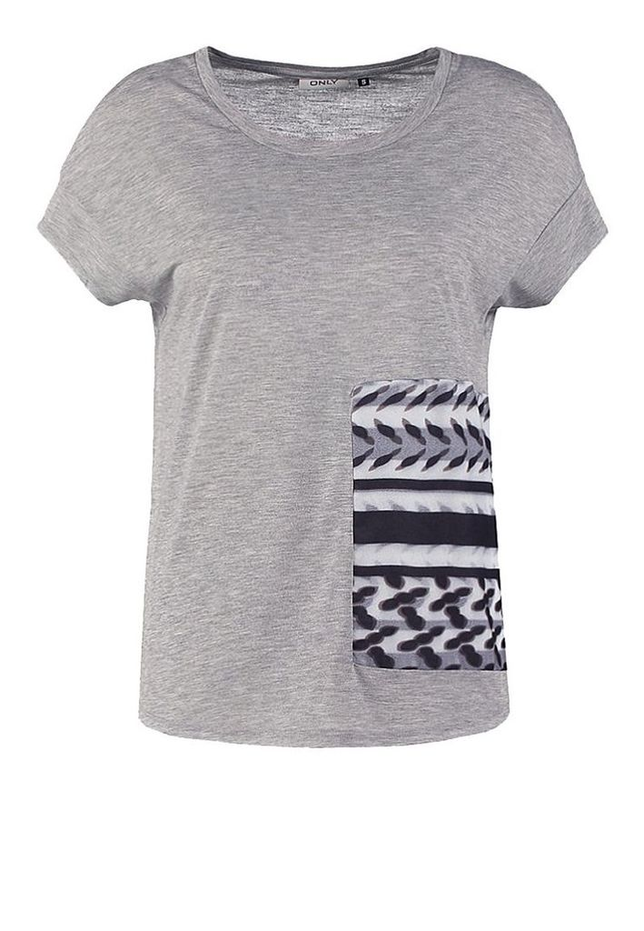 ONLY ONLTOKE Print Tshirt light grey melange