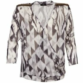 One Step  CREPUSCULE  women's Blouse in Grey