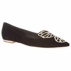 Sophia Webster Bibi butterfly leather flats, Women's, Size: EUR 35.5 / 2.5 UK WOMEN, Blk/other