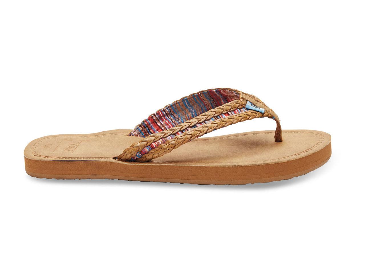 Sand Pink Mix Textile Women's Solana Flip-Flops