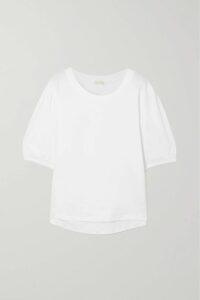 Chloé - Lauren Scalloped Snake-effect Leather Pumps - Snake print