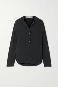 Nili Lotan - Paris Cropped Lace-up Wool-twill Pants - Black