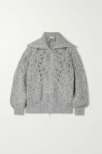 Preen by Thornton Bregazzi - Tracy Ruched Floral-print Stretch-crepe Midi Skirt - Blue
