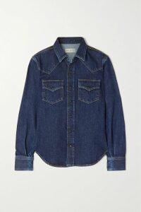 Fendi - Colibri Leather-trimmed Logo-print Mesh Point-toe Flats - Brown