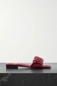 Isabel Marant - Bekett Leather-trimmed Suede Wedge Sneakers - Black