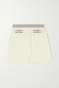 Prada - Intarsia Cashmere Turtleneck Sweater - Blue