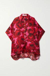 Borgo De Nor - Dianora Floral-print Silk Crepe De Chine Maxi Dress - Pink