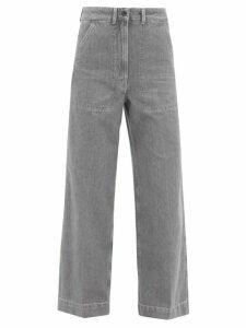 La Doublej - Happy Wrist Scallop-print Silk Blouse - Womens - Pink Multi