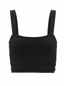 Frame - Le Sylvie Straight Leg Cropped Jeans - Womens - Dark Blue
