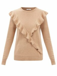 La Doublej - Bellini Tiered Cotton Poplin Dress - Womens - Blue