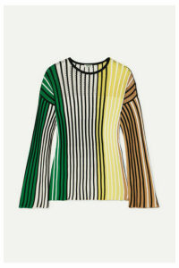 KENZO - Striped Ribbed-knit Sweater - Black