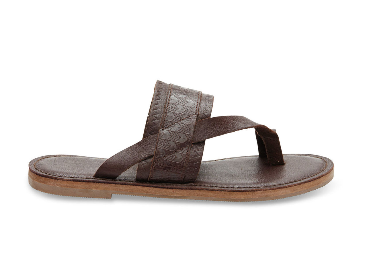 Mahogany Leather Emboss Women's Isabela Sandals