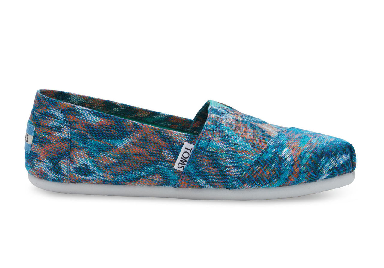 Turquoise Multi Canvas Ikat Women's Classics