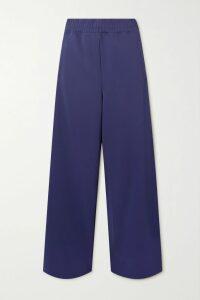 Maje - Cropped Cotton-blend Bomber Jacket - Black