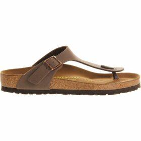 Birkenstock Faux-leather thong sandals, Women's, Size: 7, Brown moca