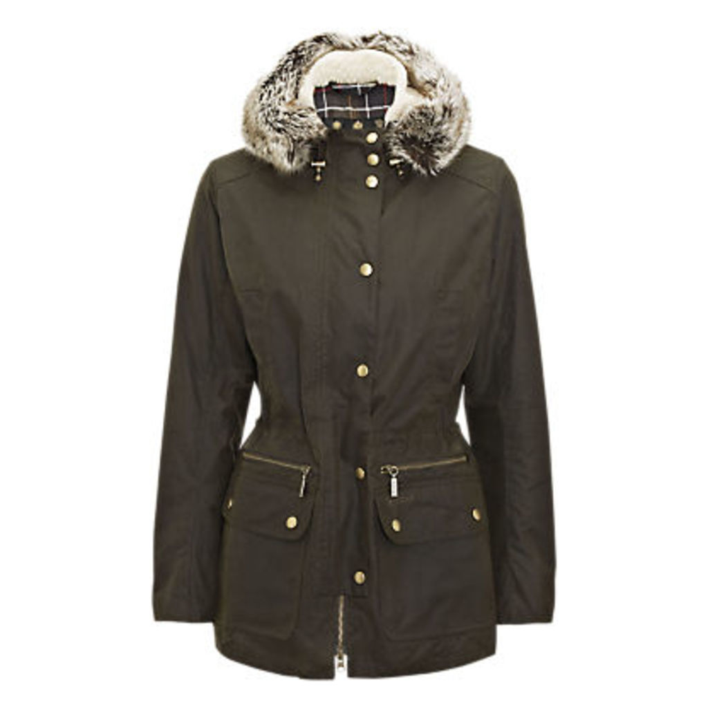 Barbour Kelsall Waxed Hooded Jacket, Olive