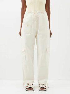 Christian Louboutin - Jonatina 100 Striped Pvc & Leather Sandals - Womens - Black Stripe